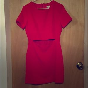 Beautiful red t-shirt dress